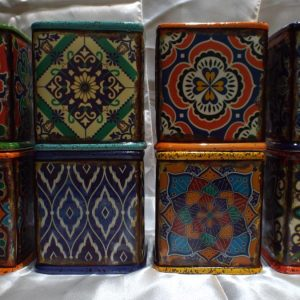 Boho Design Large Square Hand Poured Scented Soy Candle