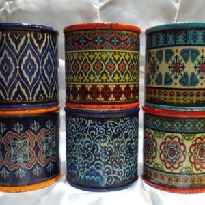 Bohemian Design Hand Poured Scented Soy Candle Medium Round