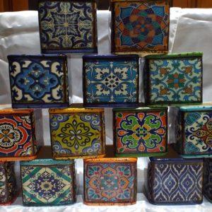 Boho Design Hand Poured Scented Soy Candles Small Square